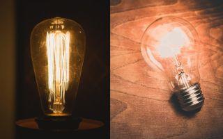 Виды ламп и история их создания