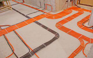 Прокладка электрических кабелей