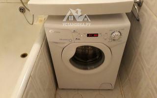 Установка стиральной машины канди под раковину