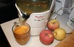 Приготовление яблочного сока в соковыжималке