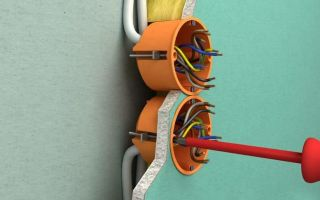 Как установить розетку в гипсокартон или деревянную стену